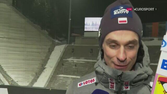 Piotr Żyła po kwalifikacjach w Oslo