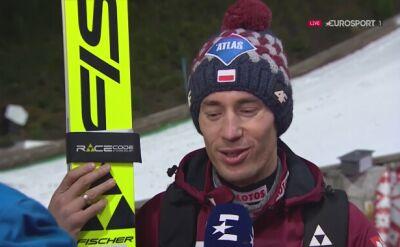 Rozmowa z Kamilem Stochem po kwalifikacjach w Wiśle