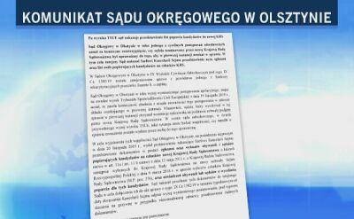 Sąd w Olsztynie wzywa Kancelarię Sejmu do przesłania list poparcia do KRS