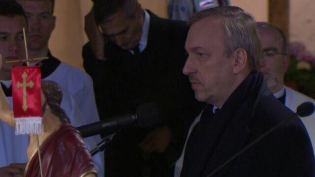 Minister Bogdan Zdrojewski podczas uroczystości w Świątyni Opatrzności Bożej