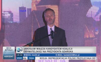 Jarosław Wałęsa oficjalnym kandydatem na prezydenta Gdańska