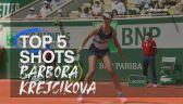 5 najlepszych zagrań Barbory Krejcikovej w Roland Garros 2021
