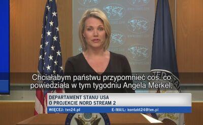 Departament Stanu: będziemy nadal sprzeciwiać się Nord Stream 2