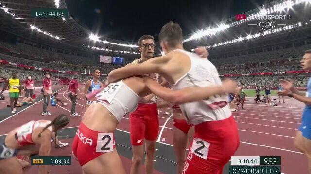 Tokio. Polacy z rekordem Europy i awansem do finału w 4x400m w sztafecie mieszanej