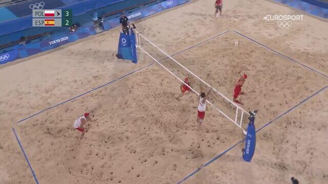 Tokio. Siatkówka plażowa: najważniejsze momenty barażowego meczu Polska - Hiszpania