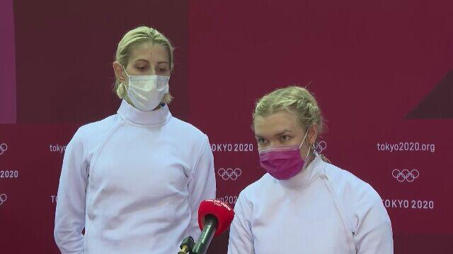 Magdalena Piekarska i Aleksandra Jarecka po zajęciu 6. miejsca w Tokio