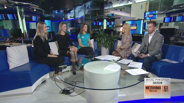 Siostry Maliszewskie w studiu TVN24