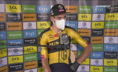 Van Aert po wygranym 7. etapie Tour de France