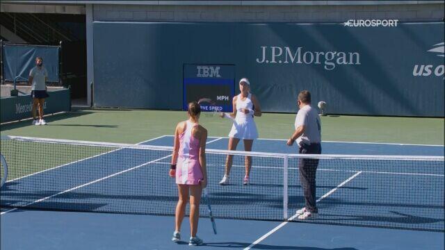 Skrót meczu Magda Linette - Anett Kontaveit w 3. rundzie US Open