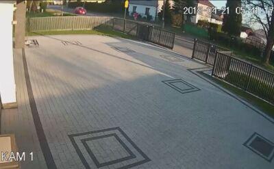 Wypadek nagrały kamery monitoringu