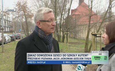 """Poznań chce ograniczyć dojazdy pod szkoły autem. """"Chcemy uczyć dzieci samodzielności"""""""