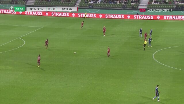 Puchar Niemiec. Bremer SV - Bayern Monachium 0:1 (gol Choupo-Moting)