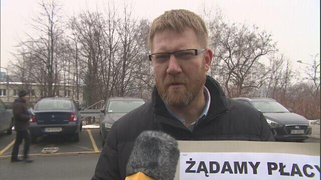 Protest pracowników prokuratury w Katowicach