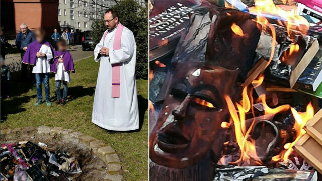 """""""The fact of burning the books was unfortunate"""". The priest from Gdańsk apologised for his controversial event"""