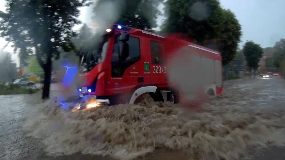 Potężna ulewa w Gorzowie Wielkopolskim. Woda zalała ulice