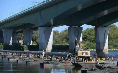 Rurociąg na Wiśle wciąż nie transportuje warszawskich ścieków. Jest opóźnienie