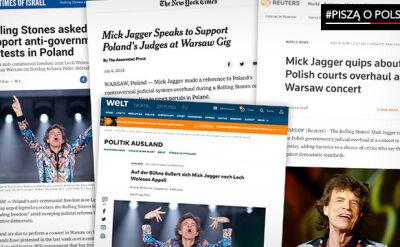 Światowe media komentują słowa Micka Jaggera z Warszawy