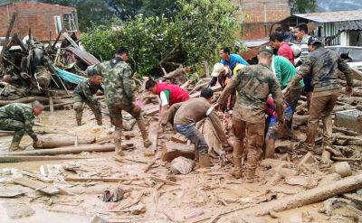 Tragedia w Kolumbii. Lawina błotna zabiła ponad 250 osób
