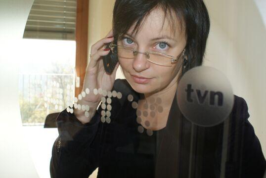 Renata Kijowska w krakowskim studiu Faktów TVN