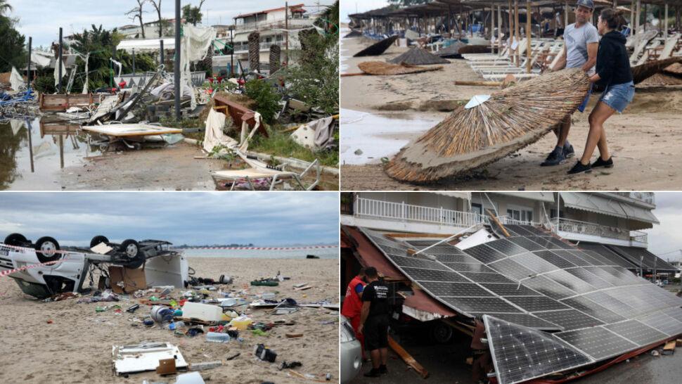 Potężna burza z gradem zabijała turystów w Grecji