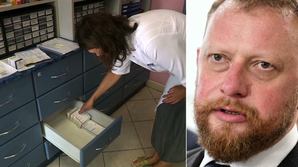 Puste półki i szuflady, w aptekach brakuje leków. Minister uspokaja