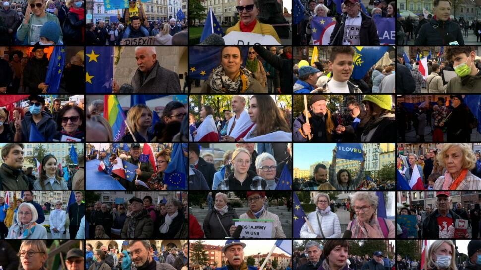 W wielkich miastach i mniejszych miejscowościach. Manifestacje poparcia dla obecności Polski w UE