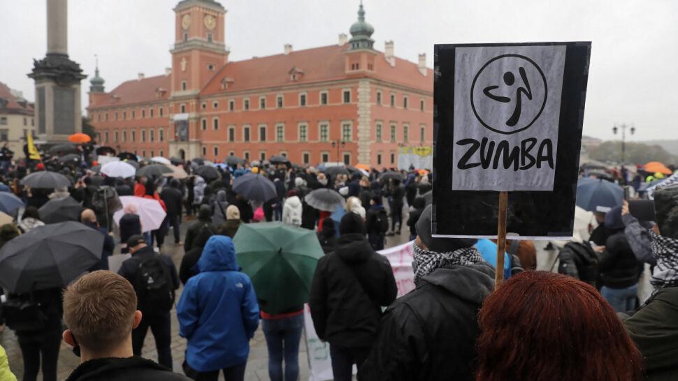 Przedstawiciele branży fitness protestowali w Warszawie