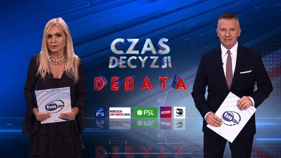Wieczorem debata wyborcza w TVN24