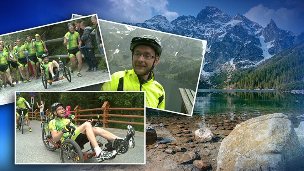 """Lekarze nie dawali mu szans, teraz przejechał na rowerze tysiąc kilometrów. """"Nikt nie mówił, że będzie lekko"""""""