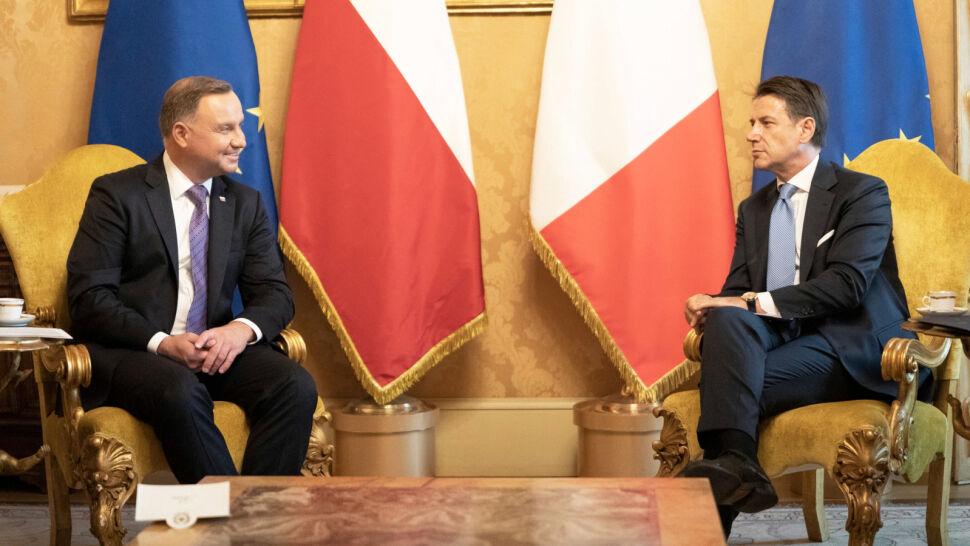 Andrzej Duda z wizytą we Włoszech
