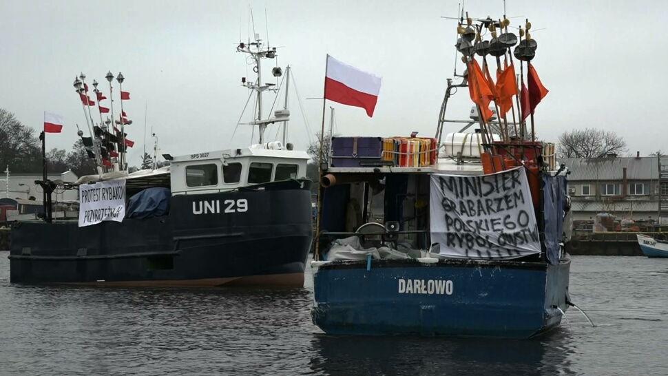 """""""Jesteśmy na krawędzi bankructwa"""". Masowy protest rybaków"""