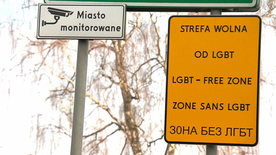 """""""Strefa wolna od LGBT"""" na znaku drogowym. To kampania antydyskryminacyjna"""