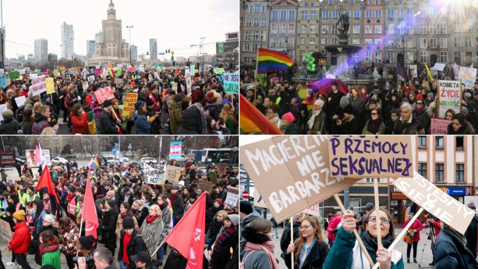Marsze z okazji Dnia Kobiet. Polki upominają się o swoje prawa