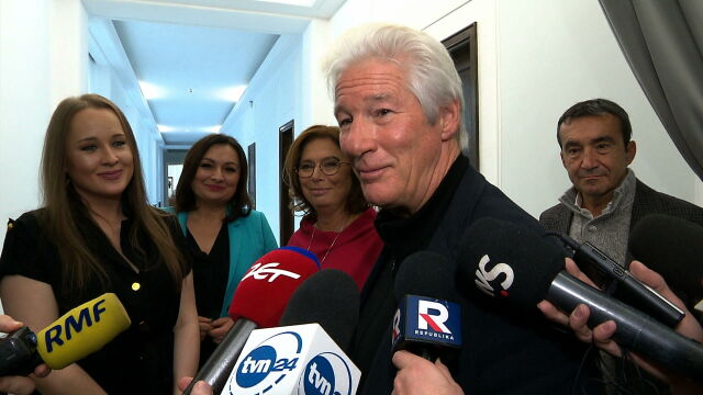 American actor Richard Gere visited Polish parliament on Monday