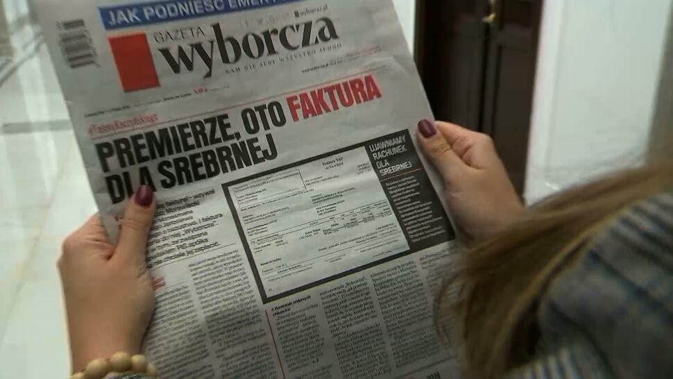 """Prezes Srebrnej: spółce nie dostarczono faktury, którą opublikowała """"Wyborcza"""""""