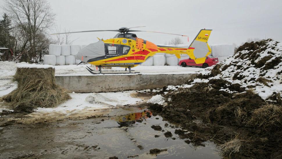 Helikopter LPR uziemiony. Przez folię