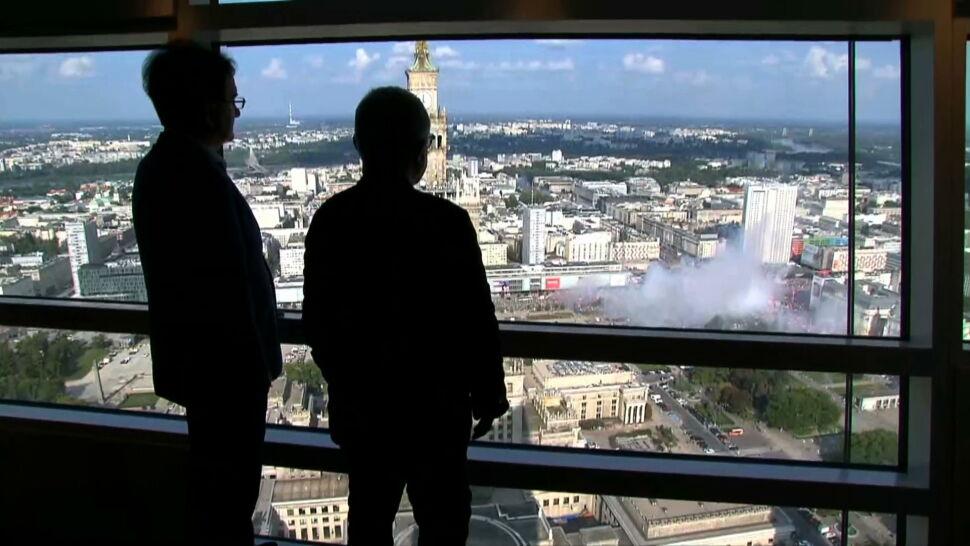 Warszawa powstała na gruzach Powstania. Architekt Daniel Libeskind: minuta ciszy to bardzo emocjonalny moment