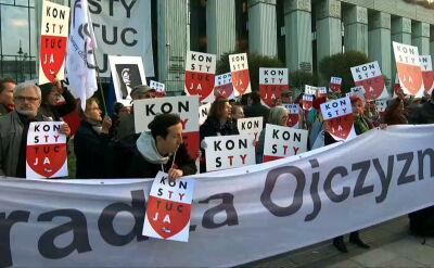 Nowi sędziowie przyszli do Sądu Najwyższego, powitali ich demonstranci