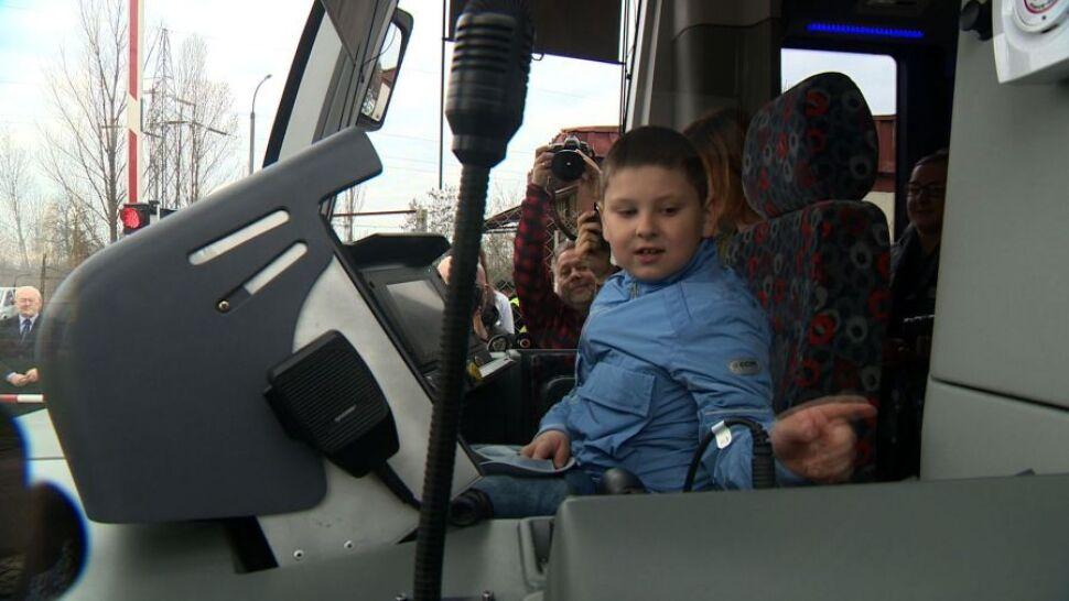 Łódź: spełnione marzenie siedmiolatka z zespołem Aspergera. Poprowadził tramwaj