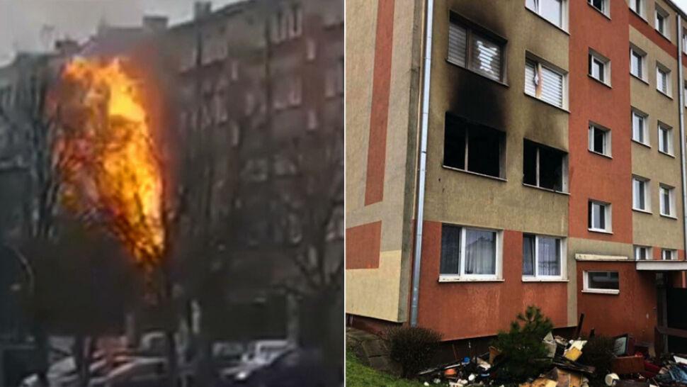 Wybuch butli gazowej w mieszkaniu. Płomienie sięgały czwartego piętra