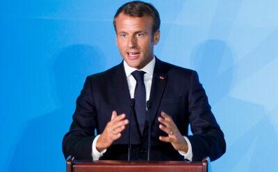 Macron: Jest jeden gracz, który wszystko blokuje. To Polska