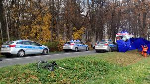 Śmiertelnie potrącił rowerzystę i uciekł