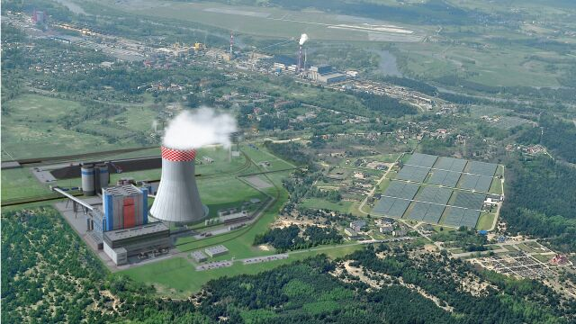 The visualisation of the Ostrołęka C power plant. According to energy minister this will be the last coal-powered energy source in Poland