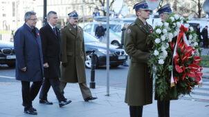 Prezydent złożył wieniec przed  pomnikiem Józefa Piłsudskiego