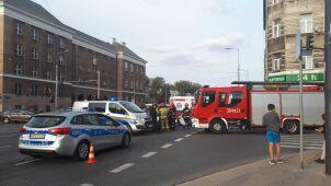 Motocyklista zderzył się z autem w centrum Warszawy
