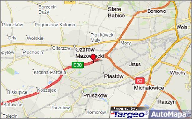 Kolizje na autostradzie A2 Mapy Targeo