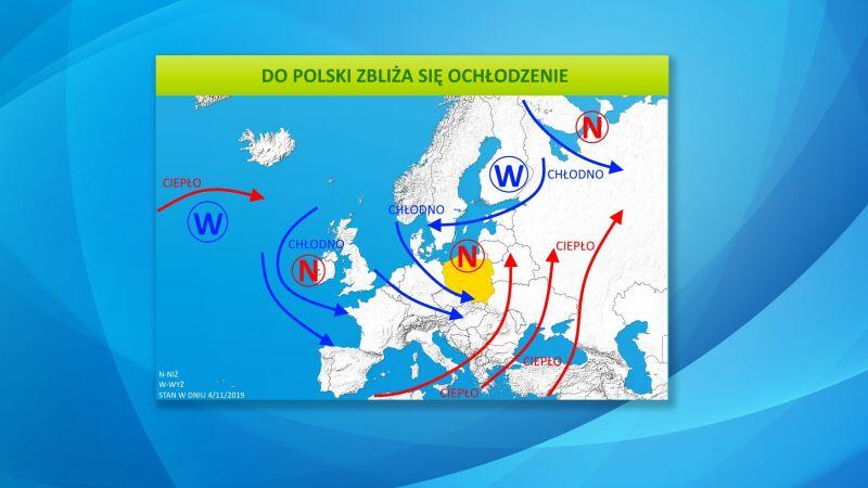 Do Polski zbliża się ochłodzenie