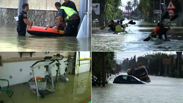 Największe powodzie od 140 lat. Zalane domy, pola i drogi w Hiszpanii