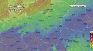 Prognozowane porywy wiatru w kolejnych dniach