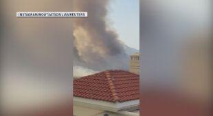 Pożar na przedmieściach Aten